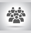crowd people - icon silhouettes vector image vector image