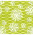 dandelion flowers seamless pattern vector image vector image