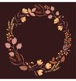 dark autumn floral frame collection cute set vector image