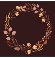 Dark Autumn Floral Frame Collection Cute set with vector image vector image