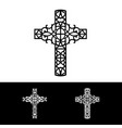 decorative cross of silhouette vector image vector image