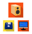 design of laptop and device sign vector image