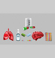 digital red medicine lungs vector image vector image