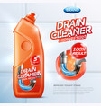drain cleaner poster vector image