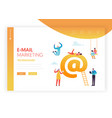 e-mail marketing concept landing page template vector image
