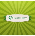 Earth Day realistic Holiday Banner Template vector image vector image