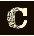 Elegant capital letter C in the style Baroque vector image vector image