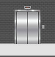 elevator door in vintage brick wall vector image