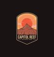 emblem patch logo capitol reef national park vector image vector image