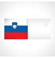 Envelope with Slovenian flag card vector image vector image
