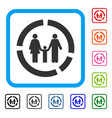 family diagram framed icon vector image vector image