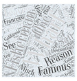 Fishermans Wharf Famous for a Reason Word Cloud vector image vector image
