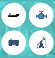flat icon petrol set of container rig flange and vector image vector image