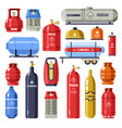 gas cylinder and containers with petroleum vector image