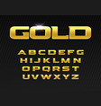 gold letters set premium typeset golden luxury vector image