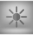 Grey Sun Icon vector image