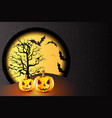 halloween pumpkin party background vector image vector image