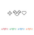 handshake heart icon vector image vector image