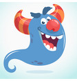 happy cartoon monster or ghost vector image vector image