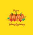 happy thanksgiving pumpkin card vector image vector image