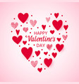 happy valentines day card heart love text vector image