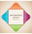 Infographics diamond vector image