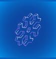 isometric geometric snowflake vector image vector image
