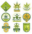 marijuana hashish drug medicine logos vector image