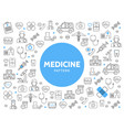 medicine line icons pattern vector image vector image