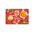 merry christmas colorful with classic vector image vector image