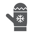 mitten glyph icon winter and clothes glove vector image