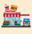Modern flat commercial restaurant fast food burger