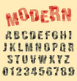 modern font alphabet set of letters and numbers vector image vector image