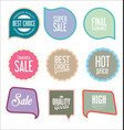modern sale stickers collection 3 vector image vector image