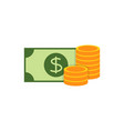money flat icon vector image
