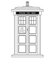 old fashioned british police box vector image