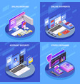 online banking isometric concept vector image vector image