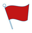 red flag silhouette isolated icon vector image vector image