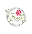 rose logo design template vector image