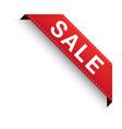 sale discount corner ribbon red vector image
