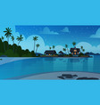 sea shore beach with villa hotel beautiful seaside vector image vector image