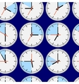 Seamless clocks vector image