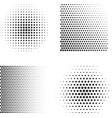 set abstract halftone symbols vector image