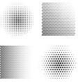 set abstract halftone symbols vector image vector image