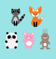 set cute and funny cartoon vector image vector image