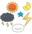 set of things in the sky vector image vector image
