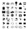 set of travel black 42 icons vector image vector image