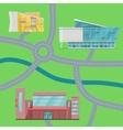 Shopping Center Concept Map vector image vector image