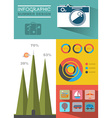 Summer Travel Infographic Web Page Design vector image vector image