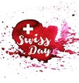 switzerland independence day greeting card vector image